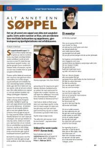artikkel fra jury av skandinavisk visetekskonkurranse i bladet Viser